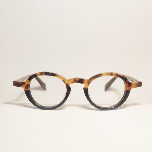 Mažo lęšio leopardo rašto retro akiniai